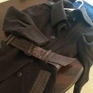 Mackage wool coat small brown